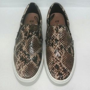 H&M Snake Skin Slip On Sneakers 7